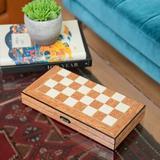 Trinx 8 Piece Multi-Game Set Wood in Brown, Size 2.25 H x 15.25 W x 8.0 D in | Wayfair G554