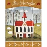 Harper Orchard Primitive Be Grateful - Unframed Graphic Art Print on Wood Wood in Brown/Green/Red, Size 12.0 H x 9.0 W x 1.0 D in   Wayfair
