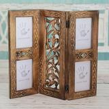 Darby Home Co Arabelle Handmade Garden of Memories Wood Picture Frame Wood in Brown, Size 18.0 H x 15.25 W x 0.6 D in | Wayfair 224034