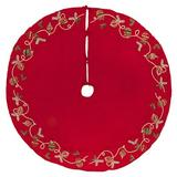 The Holiday Aisle® Gleichman Ornament Tree Skirt in Red, Size 72.0 W in | Wayfair QTX191372