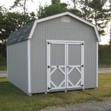 Little Cottage Company Classic 12 ft. W x 14 ft. D Solid Wood Storage Shed in Brown/Gray, Size 125.0 H x 144.0 W x 168.0 D in | Wayfair