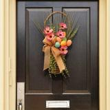 The Holiday Aisle® Easter Wall Decor Wood in Brown/Pink, Size 23.0 H x 13.0 W in | Wayfair RAE-15550LZ23