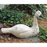 August Grove® Mirrabooka Primitive Swimming Swan Figurine Resin, Size 15.75 H x 25.0 W x 8.0 D in   Wayfair 4028VB