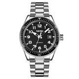 MASTOPMen Automatic Mechanical Watch Classic Automatic self Wind Watch Stainless Steel Business Analog Dress Watch (Silver Black)