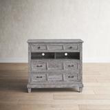 Birch Lane™ Finkel 3 Drawer Media Chest Wood in Brown/Gray/Green, Size 40.0 H x 44.0 W x 18.0 D in   Wayfair B4E941ED1F044CBEB7A822835277D798