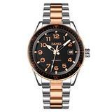 MASTOPMen Automatic Mechanical Watch Classic Automatic self Wind Watch Stainless Steel Business Analog Dress Watch (Rose Gold)