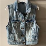 American Eagle Outfitters Jackets & Coats   Denim Vest   Color: Black   Size: S