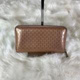 Gucci Bags | Gucci Gg Logo Printed Patent Leather Wallet | Color: Brown | Size: Os