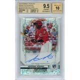Aristides Aquino Cincinnati Reds Autographed 2020 Bowman Sterling Speckle Refractor RC #BSRAAA #11/99 BGS 9.5/10 POP 1 Card - Topps
