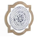 Hand-Painted Floral Medallion Wall Decor, Multicolor