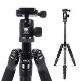 SIRUI Traveler 5C Tripod 54.3 inches Lightweight Carbon Fiber Travel Tripod Portable Camera Tripod with 360° Panorama Ball Head and Arca Swiss Quick Release Plate Load Capacity Up to 4kgs