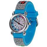 Relda Boy's-Children Time Teacher 3D Train Silicone Strap Watch + Telling The Time Award