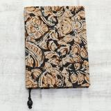 Winston Porter Dowagiac Floral Story Floral Cotton Journal in Green, Size 7.0 H x 5.0 W x 0.8 D in | Wayfair 330502