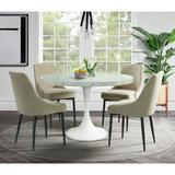 Mardelle 5PC Dining Set-Table & Four Cream Side Chairs - Picket House Furnishings CCS100CR5PC