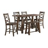 Regan 6PC Counter Height Dining Set in Cherry-Table, 4 Side Chairs & Bench - Picket House Furnishings DRN1006CS