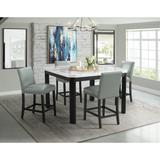 Celine 5PC Square Counter Dining Set- Table & Four Grey Side Chairs - Picket House Furnishings CFC700SGY5PC