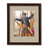 Harvest Collection Walnut Wall Frame with Linen Mat, Brown, 11X14