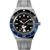 Watch M79 Automatic X Peanuts Featuring Snoopy Masked Marvel 40mm Stainless Steel Bracelet Steel/black - Metallic - Timex Watches
