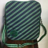 American Eagle Outfitters Bags | American Eagle Navy And Green Stripe Laptop Bag | Color: Blue/Green | Size: Os