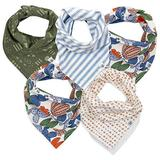 HonestBaby Organic Cotton Bandana Drool Bib Multi-Packs, Catcus, One Size
