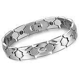 LIUSHENGJI Elegant Titanium Magnetic Therapy Bracelet Pain Relief for Arthritis and Carpal Tunnel Magnetic Bracelet for Men Stainless Steel Bracelet 8.5Inches