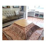 CharmingNight (2pcs/Set) Square Kotatsu Futon Top & Bottom Set Comforter for Foot Warmer Wood Table Japanese Futon Mattress&Table Cover Creativity (Color : FU 2)