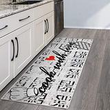 SussexHome Non Skid Washable Kitchen Runner Rug - Ultra-Thin 70% Cotton Kitchen Floor Mat for in Front of Sink - 20 x 59 Inches Heavy Duty Runner Rug for Kitchen Floor