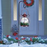 """The Holiday Aisle® Adelio Copper 1 -Light 36"""" H Solar Powered Integrated LED Lamp Post (Full) Metal in Brown, Size 36.0 H x 6.12 W x 6.5 D in"""