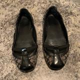 Coach Shoes | Coach Slip On Ballet Flat | Color: Black/Cream | Size: 7.5