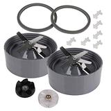 2 Pack Bottom Extractor Blender Blade Nutribullet Replacement Blender Blade Parts Compatible with NutriBullet 600W & Pro 900W Series Blender Accessories Mixer NB-101B NB-101S NB-201