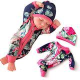 GEZICHTA 10inch Reborn Baby Dolls, Closed Eyes Mini Reborn Baby Doll with Clothes, Full Body Soft Vinyl Silicone Realistic Looking Baby Newborn Dolls Handmade Xmas Gift