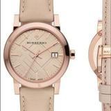 Burberry Accessories | Like New Rose Gold Burberry Watch | Color: Cream/Pink | Size: Os