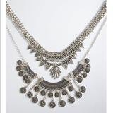 Torrid Jewelry | Boho Coin Statement Necklace | Color: Silver | Size: 21 Inches At Its Max Length