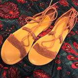 American Eagle Outfitters Shoes | American Eagle Sandals | Color: Pink/Purple | Size: 9