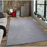 Sweet Home Stores Reversible Indoor/Outdoor Area Rug, 5X7, Blue, SH-SUN2006-5X7