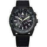 Promaster Black Leather Strap Watch 42mm - Black - Citizen Watches