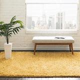 Rugs.com Everyday Shag Rug – Yellow 5x8 Shag Rug Perfect for Bedrooms, Dining Rooms, Living Rooms and More