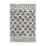 nuLOOM Indoor Rugs Gray - Gray Ansley Shaggy Lattice Tassel Rug