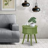 East West Furniture GONE12 1 Pc Beautiful Gordon Modern nightstand with Drawer, 1-Pack, in Clover Green Finish