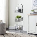 Latitude Run® Chambria Metal/Wire Basket Metal in Black, Size 50.0 H x 14.0 W x 14.0 D in | Wayfair 722B19A9DB804453B95572BC97DF1D2C