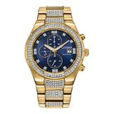 Men's Citizen Eco-Drive Crystal Chronograph Watch - CA0752-58L, Size: Large, Gold