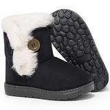 Baby Black Boots Babies Toddler Boots Girl Snow Boy For Girls Winter Boys 12-18 Months 6-12 Size 4 Black Fat Infant Fur 3 (Black, Size 4 )
