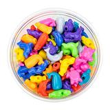Hygloss Products, Inc Plastic 25mm Craft Beads for Kids Marine Life Animal Design-Arts & Crafts Activity-Multi Bracelets, Necklaces & Keychains-150 Pieces, Assorted Colors
