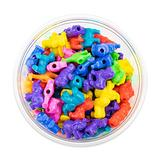 Hygloss Products, Inc Plastic 25mm Craft Beads for Kids Safari Life Animal Design-Arts & Crafts Activity-Multi Bracelets, Necklaces & Keychains-150 Pieces, Assorted Colors