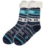 Sherpa-Lined Slipper Socks