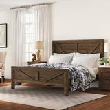 Three Posts™ Craigsville Solid Wood Standard Bedroom Set Wood in Brown/Green, Size Queen   Wayfair DD41254AAC514F0BB43FE70C3F8726AE