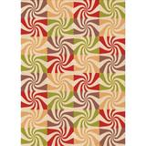 East Urban Home Abstract Area Rug Polyester/Wool in Orange, Size Rectangle 5' x 8'   Wayfair 637E7226CAC34998B5D559FBB19261D0