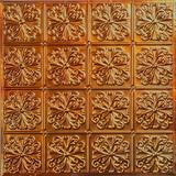 American Tin Ceilings 2 ft. x 2 ft. Nail-up Tin Ceiling Tile in Silver - Unfinished/No Coating Tin in Brown, Size 24.0 H x 24.0 W x 0.01 D in
