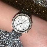 Michael Kors Accessories | Michael Kors Silver Parker Watch - Mk5353 | Color: Silver | Size: 39mm