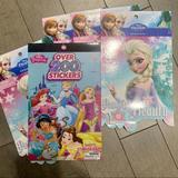 Disney Party Supplies   5 Frozen & Disney Princess Sticker Books   Color: Pink/Purple   Size: Os